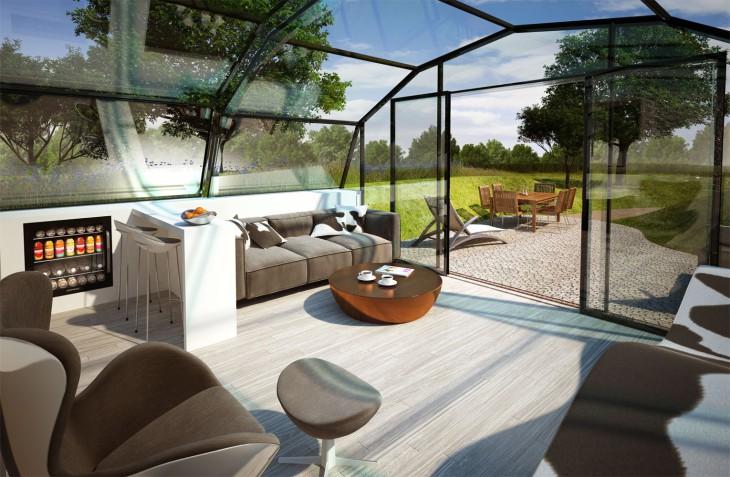 Футуристический концепт дома из «умного» стекла